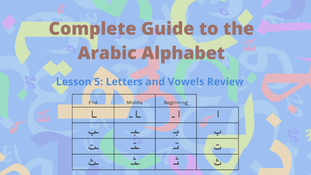 Arabic Letters and Vowels