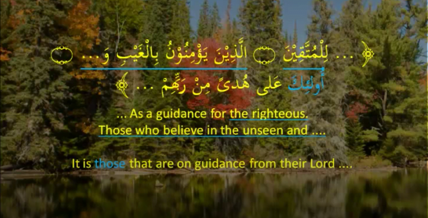 Quranic example to highlight the difference between a personal pronoun in Arabic and a demonstrative