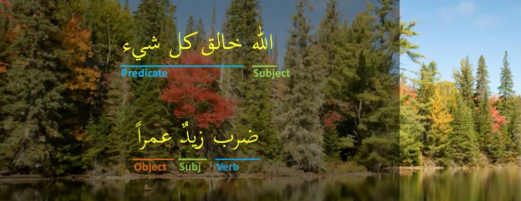 Standard Arabic sentences where the subject is mentioned