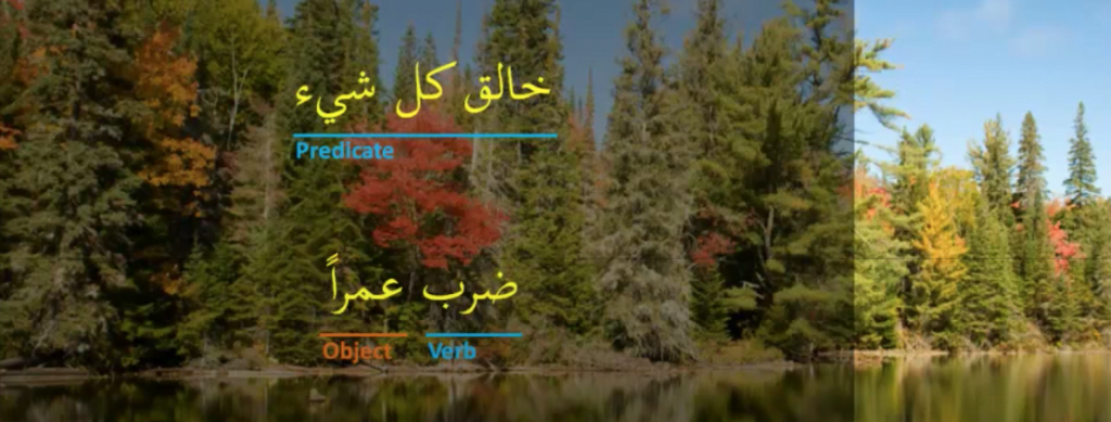 Arabic sentences where the subject of the sentence has been omitted