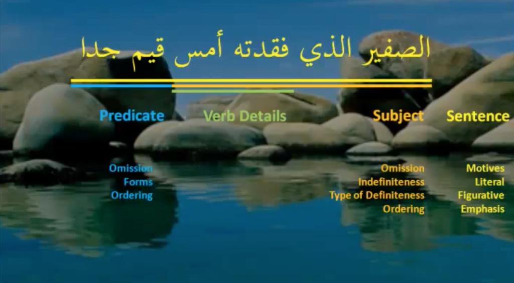 Verbal Details in Arabic